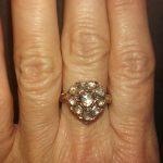Sjælden hjerteformet antik diamantring