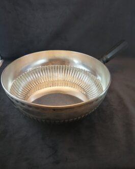 Michelsen-sølvkasserolle med stjerthank af træ