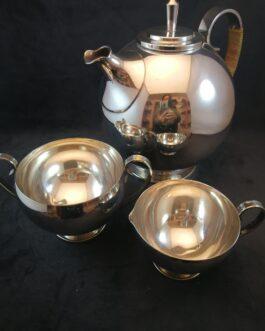 Tre dele kaffesæt af plet
