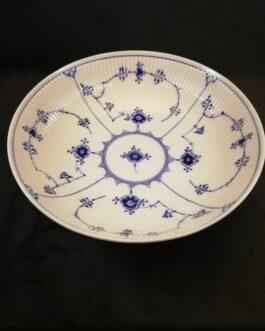 Kongelig Porcelæn Musselmalet Riflet salatskål