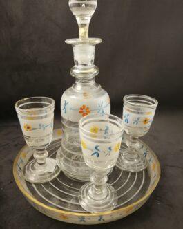 Snapsekaraffel med fire glas