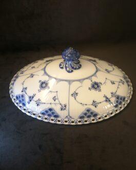 Låg i Kongelig Porcelæn Musselmalet Helblonde
