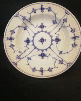 Kongelig Porcelæn dyb Musselmalet Riflet tallerken
